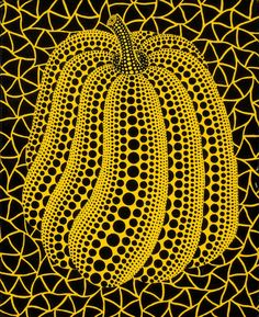Yayoi Kusama (Japan, b. x 22 cm… Yayoi Kusama Pumpkin, Apple Painting, Pumpkin Art, Ecole Art, Autumn Art, Japanese Artists, Art Club, Mellow Yellow, Elementary Art