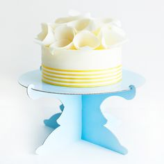 Baby Blue Cardboard Cake Stand