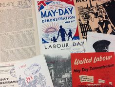 'A collection of May Day demonstration pamphlets and articles' Labour Day, May Days, Salford, Socialism, Articles, The Unit, Peace, Party, Books