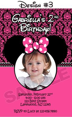 Minnie Mouse Clubhouse Birthday Party Photo by BlitzDesignzz, $12.99