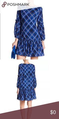 Eliza J Plaid Blouson Sleeve Ruffled Shift Dress Eliza J Plaid Blouson Sleeve Ruffled Shift Dress. Eliza J Dresses