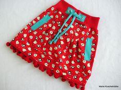 Röcke - Rock, Röckchen, Sweatrock, Gr. 104/110, warm, rot - ein Designerstück von kleine_Kuschelrobbe bei DaWanda