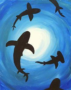 Sea Turtle Acrylic Beginners Painting Painting