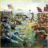 The Day Is Ours Pickett's Charge July 3, 1863 Dale Gallon, Artist Brigadier General Lewis Armistead leading the heroic and tragic moments at the High Water Mark
