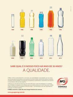 Anúncio que mostra a história e comprometimento da M&G polímeros no Brasil.