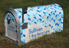 Custom Mailbox DIY of my own design, posted on my art blog