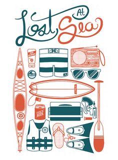 """Lost At Sea"" | Illustrator: Jim DiGiovanni - Up North Co. | Buy Print: http://www.etsy.com/shop/UpNorthCo"