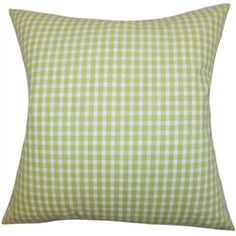 Complete the look of your interiors with this lovely accent pillow. This square pillow features a lively green and white color combination and a classic plaid pattern. Like all our decor piece, this toss pillow is comfy and soft, which makes it a definite must-have for all homes. This throw pillow is made of 100% high-quality cotton material. $55.00  #decor #throwpillow #plaid