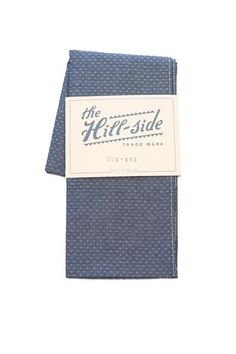 Scarf | Indigo Jacquared Chambray Dot | The Hill-Side
