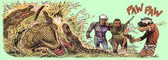 Bernard Prince en Djinn in de problemen, tekening van Hermann