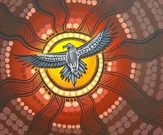 One of my favorite paintings. Bunjil the Wedge tailed eagle. Aboriginal Art Animals, Aboriginal Artwork, Aboriginal Artists, Watercolor Artwork, Dot Painting, Aboriginal Tattoo, Tribal Eagle Tattoo, Wedge Tailed Eagle, Eagle Drawing