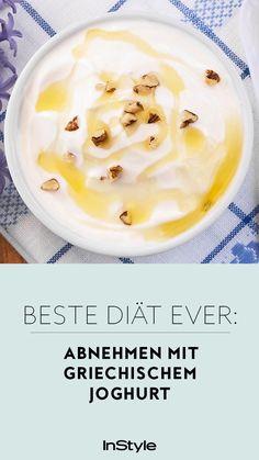 Wie du mit griechischem Joghurt abnehmen kannst? Verraten wir dir! Außerdem haben wir vier richtig leckere Diät Rezepte für dich. #instyle #instylegermany #joghurt #abnehmen #schlank