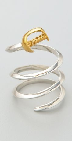 Noir Jewelry Sword Wraparound Ring. Holy moly this is so cute!