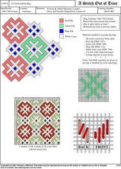 Brick stitch - historic pattern from the V A Broderie Bargello, Bargello Needlepoint, Bargello Quilts, Needlepoint Stitches, Needlework, Blackwork Embroidery, Diy Embroidery, Embroidery Stitches, Embroidery Patterns