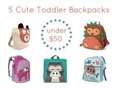 5 Cute Toddler Backpacks under $50