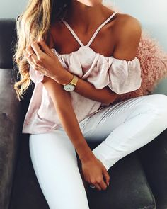 silk pink off the shoulder @dcbarroso