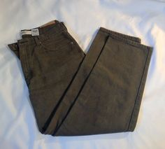 Levis 550 Mens Jeans 34x30 Khaki Army Green Relaxed Fit Straight Leg #Levis #Relaxed