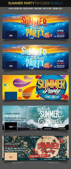 Summer Facebook Bundle Template PSD #design Download: http://graphicriver.net/item/summer-facebook-bundle/11838817?ref=ksioks