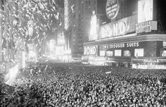 Revelers celebrate New Year in Times Square, New York, 1938