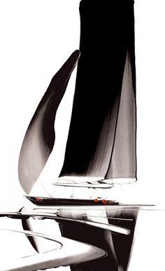 Starlit Sails II [Duncan Macgregor-A238] - $500.00 painting by oilpaintingsartmaker.com
