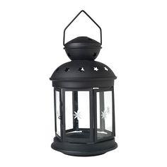 IKEA - ROTERA, Lanterne pour bougie bloc, Pour une utilisation en intérieur ou en extérieur.