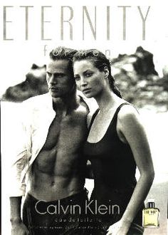 Eternity For Men by Calvin Klein with Christy Turlington and Mark Vanderloo (1996).