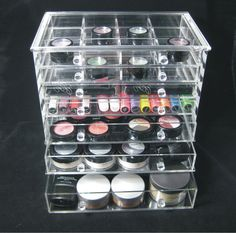 Acryliques tuis and rouges l vres on pinterest - Rangement maquillage tiroir ...