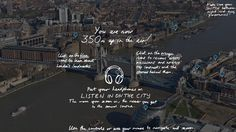 The Guardian leva interatividade à vista panorâmica do topo de Londres.