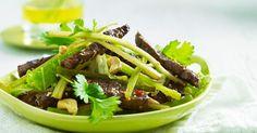 En smakfull salat for varme sommerkvelder Green Beans, Chili, Beef, Vegetables, Food, Meat, Chile, Chilis, Hoods