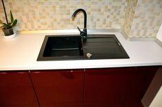 Chiuveta si baterie neagra Alveus incastrata in blat alb termorezistent Sink, Design, Home Decor, Sink Tops, Vessel Sink, Decoration Home, Room Decor, Vanity Basin