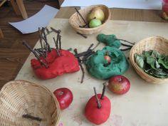 Apple Themed Playdough | Pre-school Play