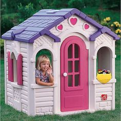 $279 from walmart Step2 Sweetheart Playhouse - Aliza?? In the play room - I think all the girls would love to play with this. But do I really want MORE BIG STUFF??