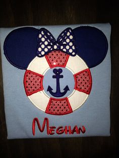 Disney Cruise life preserver mouse ears by BellaRagazzi on Etsy