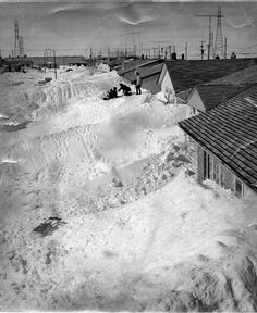 Winnipeg Tribune Photo Collection : Weather 1966 Snowstorm : Archives & Special Collections : Libraries : University of Manitoba Meanwhile In Canada, University Of Manitoba, Canadian Things, Wild Weather, Canadian History, Winter Photos, Abandoned Places, Great Photos, Vintage Photos
