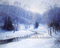 Winter Morning ~ Landscapes ~ Counted Cross Stitch Pattern #StoneyKnobFarmHeirlooms #CountedCrossStitch
