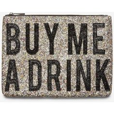 Express Buy Me A Drink Glitter Clutch ($21) ❤ liked on Polyvore featuring bags, handbags, clutches, multi, party purses, glitter purse, express purses, express handbags and faux purses