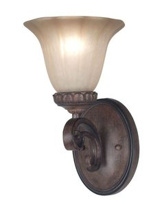 Kenroy Home Teak Rochester Wall Sconce with Teak Finish