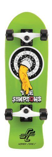 Santa Cruz Simpsons Homer One Micro Cruzer Skateboard (8.3 X 26-Inch) by Santa Cruz. $106.69. Amazon.com                This mini version parody of Santa Cruz Skateboard's classic Rob One deck is perfect for Homer fans--with custom Simpsons artwork and donut graphic wheels. Despite its small 8.3 by 26-inch dimensions, the board is ride-able for skaters of all ages and comes ready to go with 137-millimeter bullet trucks and 54-millimeter road rider wheels.    The Homer Micro Cru...
