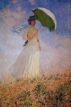 Monet-Woman with a parasol facing right