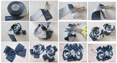 Faça Você Mesmo - Tiara com flor de tecido