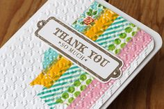 dry embossing washi tape handmade card