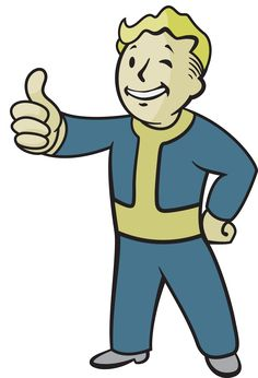 Vector of the Vault Boy character from the Fallout series of video games. Fallout is created by Interplay Vault Boy Vector Fallout Tattoo, Fallout 4 Mods, Fallout Art, Fallout Tips, Fallout Posters, Boy Tattoos, Tattoos For Guys, Gamer Tattoos, Boy Character