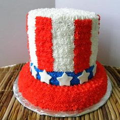 I love this Uncle Sam hat cake