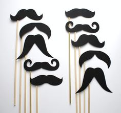 Photo Booth Props. Wedding Photo Props. Photo Props. Mustache. Props on a Stick. Mustache on a Stick - The All Stache Pack. $8.25, via Etsy.