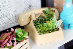DIY Telephone Planter + 3 Other Artificial Planter Ideas | Karen Kavett