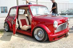 custom Mini with suicide doors. I want these wheels. And the doors!!