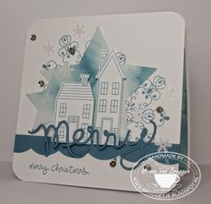 Yvonne is Stampin' & Scrapping: Stampin´ Up! Watercolor stars and Holiday Home card