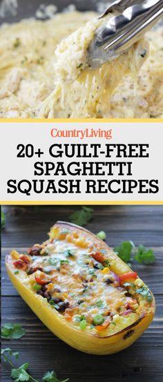 Guilt free spaghetti squash recipes