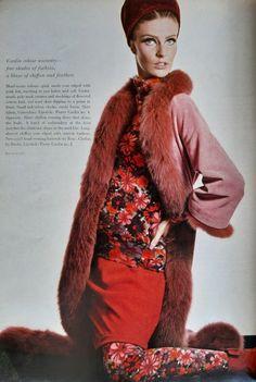 Pierre Cardin A/H 1964-65. Photo David Bailey Pierre Cardin, David Bailey Photography, Fur Coat, Collection, Jackets, Vintage, Fashion, Fall Winter, Haute Couture