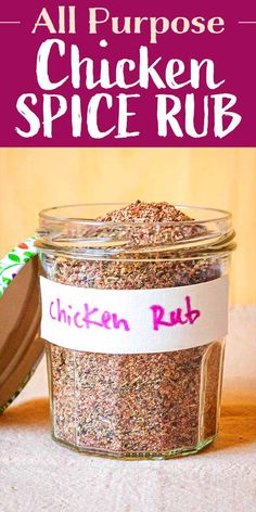 original_title] – Sarah Rolfes The Best Dry Rub for Chicken This premade All Purpose Chicken Spice Rub is great on every part of the chicken! You can even sprinkle it on roasted potatoes or vegetables. Chicken Spices, Roasted Chicken, Roasted Potatoes, Grilled Chicken Seasoning, Homemade Spices, Homemade Seasonings, Spice Rub, Spice Mixes, Spice Blends